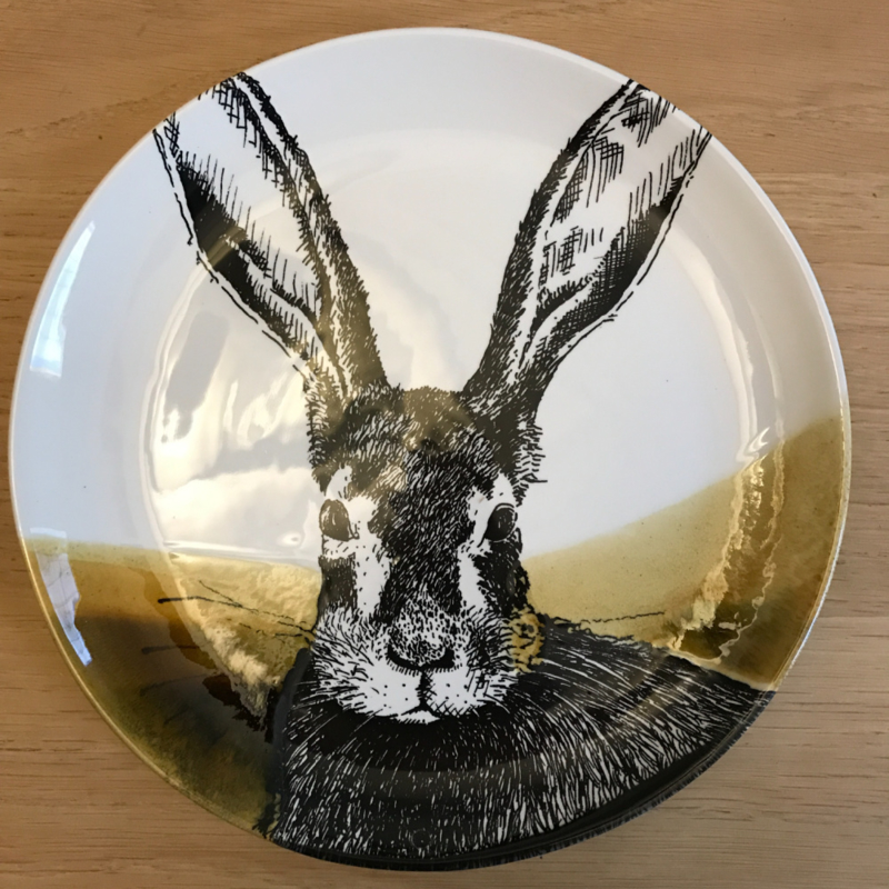 Hunting servies ontbijtbord 24 cm haas
