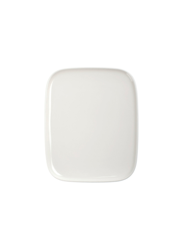 Oiva white rectangular plate 15 x 12 cm