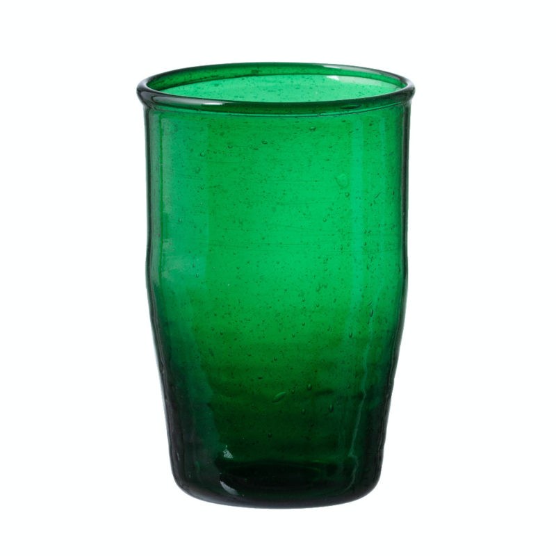Bungalow belletjesglas groen 230 ml