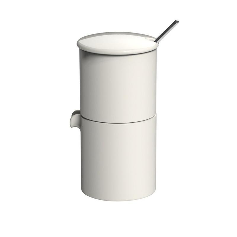 Loveramics Bond crème stapelbare melk en suiker set met lepeltje