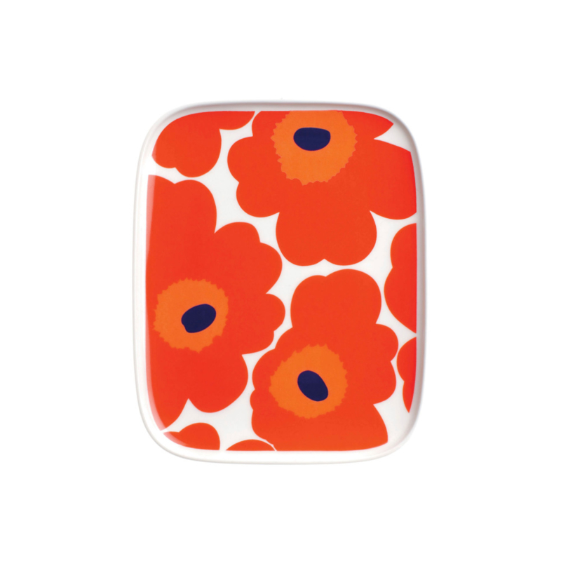Plate Unikko Red 15 x 12 centimeters