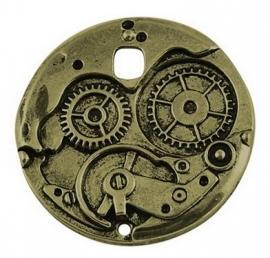 L83 Steampunk pendant bronze 38mm 2 stuks