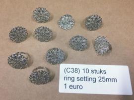 B38 ring setting 25mm 10 stuks