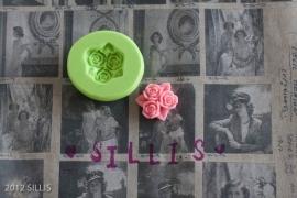 Sillis Mini Mould | 3 Little Roses 16mm