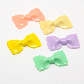 Bowknot Candy Color | 44x25mm resin cabochon | MIX (10pcs) L005