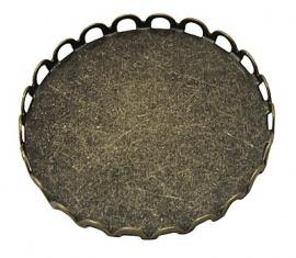L58 Cabochon setting - brons Desiree round 25mm 3 stuks