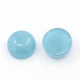 D01/8 Gemstone Nature Cabochon 12mm | Aquamarine Quartz