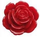 F05 Lola | resin flatback cabochon | 23mm | RED 10 stuks