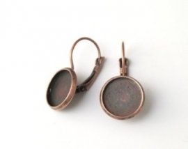 L96 Earring setting blank DIY 14mm | Red Copper 5 paar
