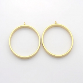 FRAME | Oval Pendant | Golden matte 39x50mm