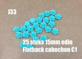 J33 25 stuks 15mm Edin flatback cabochon