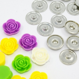 DIY #4 snap button chunk shank SET | 20mm MIX | 10 sets