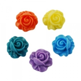 Vintage Flower MIX 100pcs 16x15mm