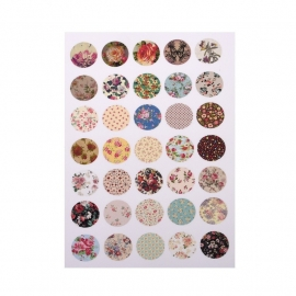 Sillis Scrapbook Stationery   Collage Sheet 14mm L028 04
