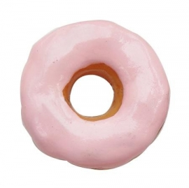 K14/1 Kawai | Decoden | resin cabochon Pink donut 22x9mm (15 pcs)