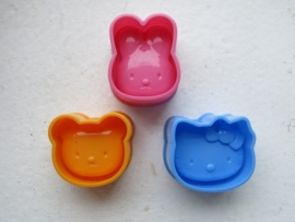 Bento | Cookie Cutters set | Hello Kitty & Friends moulds set of 3