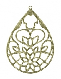 K19 FAYE | earring filigree component | Bronze 55x38mm 10 stuks