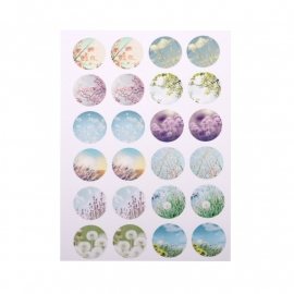 Sillis Scrapbook Stationery   Collage Sheet 18mm L027 07