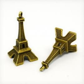 K18 Vintage hanger Eifeltoren | la tour Eiffel 2 stuks