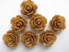 F37 Flatback cabochon resin rose | Roya PERU 19mm 20 stuks