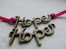L69 Connector | HOPE | bronze 35x14mm 2 stuks