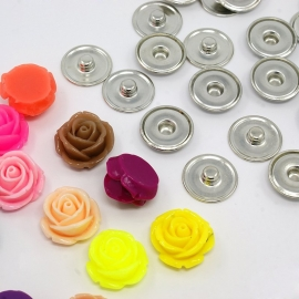 DIY #2 snap button chunk shank SET | 19mm MIX | 10 sets