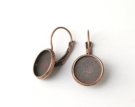 C16 Earring setting blank DIY 16mm | Red Copper 10 paar