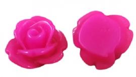 Mini resin cabochon | Adanya 7.5mm | FUCHSIA | 25 stuks C37/1