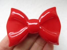 Big Bow | Decoden | Resin cabcohon | RED 61x43mm