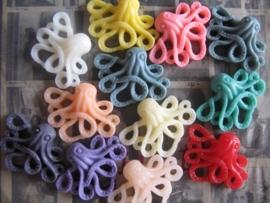 C20 Flatback cabochon   Octo Octopus Steampunk