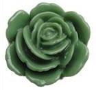 F03 Lola | resin flatback cabochon | 23mm | GREEN 10 stuks