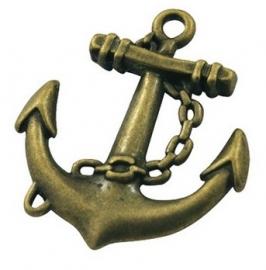 L30 Sail Away | Anchor charm | bronze 32x27mm