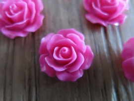 A21 Flatback cabochon resin rose | Roya FUCHSIA 19mm 20 stuks