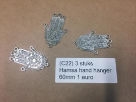 L85 3 Hamsa hand hanger 60mm