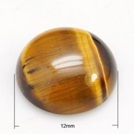 D01/6 Gemstone Nature Cabochon 12mm | Tiger Eye