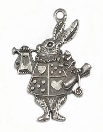 L72 DIY hanger - Queen of Hearts Rabbit zilver 3 stuks