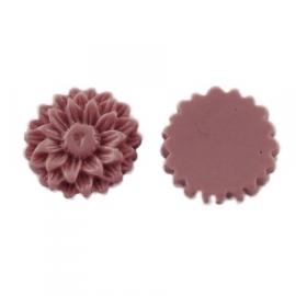 K20/3 JULIE | 14mm flower cabochon | ROSYBROWN 30 stuks