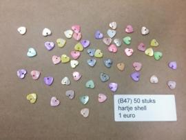 B47 50 stuks shell hartjes 12mm