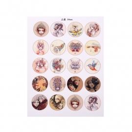 Sillis Scrapbook Stationery   Collage Sheet 20mm L022 03