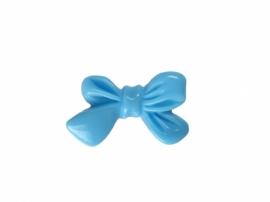 F08 Flatback cabochon - RESIN Cute Bow SKY BLUE 14x23mm (20pcs)