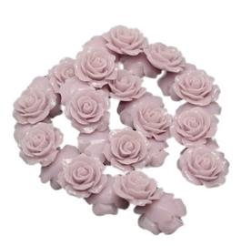 REZA   resin flower bead   18mm   DISTEL 25 stuks D07