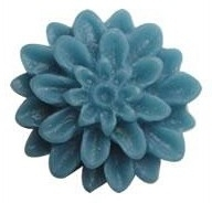 D51 Milla | resin cabochon flatback | 16mm CADETBLUE (20pcs)