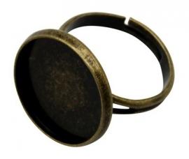 K42 Ring starter setting Jeanine - Brons 18mm 4 stuks