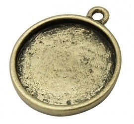 A15 Poppi | cabochon setting 12mm Bronze 10 stuks