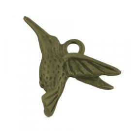 L29 Pendant | Hummingbird Bronze | 18x14mm 5 stuks