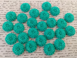 MAYA | resin flatback cabochon | 24mm | Turquoise 25 stuks C39