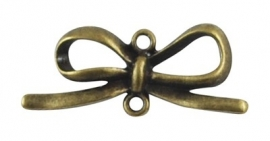 K15/1 Bowknot connector | BRONZE 34x14mm 3 stuks