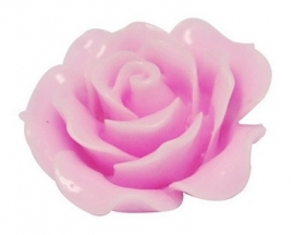 A21 Flatback cabochon resin rose | Roya HOTPINK 19mm 20 stuks