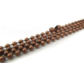 C12 CHAIN | BALL & CHAIN 5 METER | Red Copper XS (1.5mm)