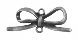 K15/2 Bowknot connector | SILVER 34x14mm 3 stuks